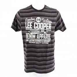 Pánské tričko Lee Cooper černo šedé