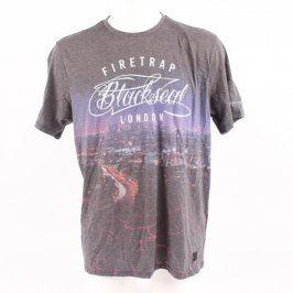 Pánské tričko Firetrap šedé s potiskem