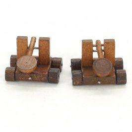 Dřevěné vozíky pro děti hnědé
