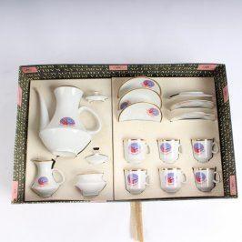 Porcelánová souprava na čaj Spartakiáda 1980