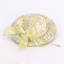 Dámský klobouk se žlutou mašlí