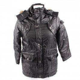 Dětská bunda Okay černá s kapucí