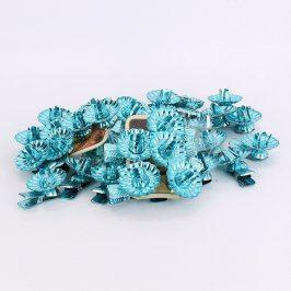 Držáčky na svíčky na stromeček modré 40 ks