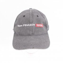 Dětská kšiltovka šedá s nápisem Team Peugeot