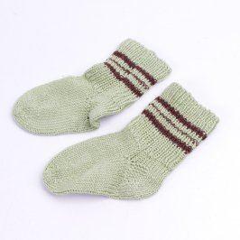 Dětské ponožky šedé s hnědými proužky
