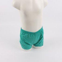 Dětské šortky zelené barvy