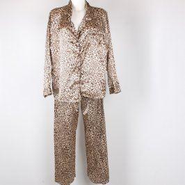 Dámské pyžamo SECRET hnědo zlaté