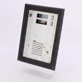 Tlačítkové tablo MIWI 2 tlačítka stříbrné