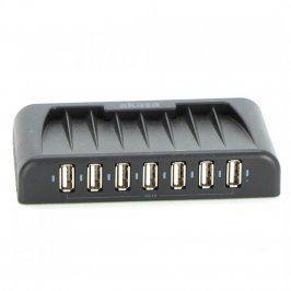 USB 2.0 HUB Akasa AK-HB-09BK 7 portový černý