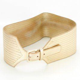Dámský pásek odstín béžové široký