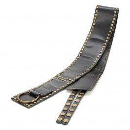 Dámský pásek odstín černé kožený