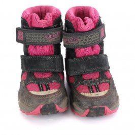 Dětské zimní boty Superfit černo-růžové