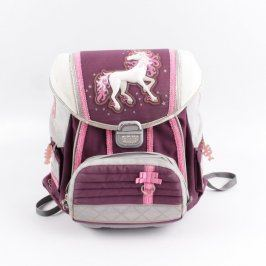 Školní batoh Hama fialový s koníkem