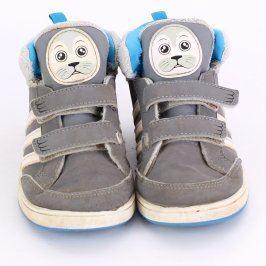 Dětské boty Adidas šedé barvy