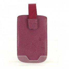 Pouzdro na mobil na suchý zip růžové