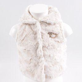 Dětská chlupatá vesta Knot So Bad bílé barvy