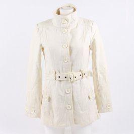 Dámský kabát C&A bílý s páskem