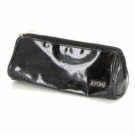 Kosmetická taška Avon lesklé černé barvy