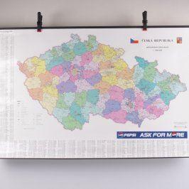 Plakát mapy České republiky