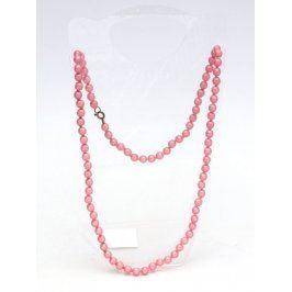 Náhrdelník perlový růžový bižuterie