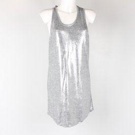 Dámská tunika H&M odstín stříbrné