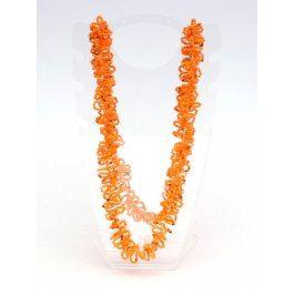 Náhrdelník s oranžovými korálky