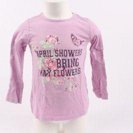 Dívčí tričko Lupilu odstín fialové