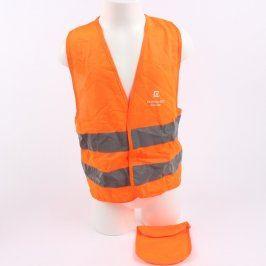 Reflexní vesta oranžové barvy s nápisem