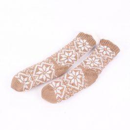 Dámské ponožky zimní odstín hnědé