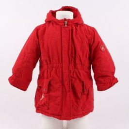 Dívčí bunda Nordic Winter červené barvy