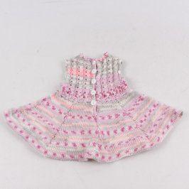 Dětské pletené šaty růžovo-šedé barvy