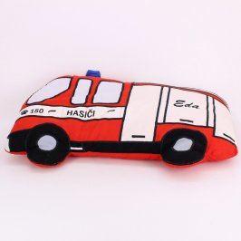 Polštář ve tvaru hasičského auta