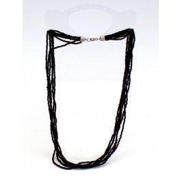 Náhrdelník z malých černých kamínků