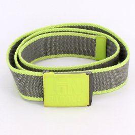 Pánský pásek GROOVE odstín šedé a zelené