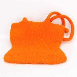 Dámská taška bavlněná odstín oranžové
