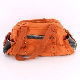Dámská kabelka odstín oranžové textilní