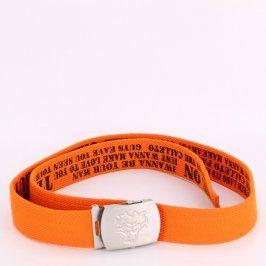Pánský pásek odstín oranžové