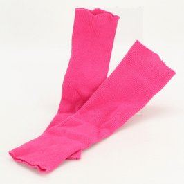 Dětské návleky na lýtka růžové barvy
