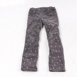 Dětské kalhoty H&M manžestráky odstín hnědé