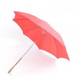 Deštník holový červený délka 80 cm