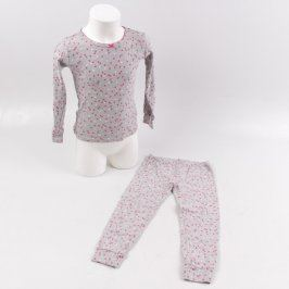 Dětské pyžamo Carter's šedé se srdíčky