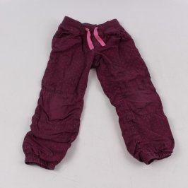 Dětské kalhoty H&M odstín fialové s puntíky