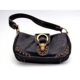 Dámská kabelka černá se zlatými prvky