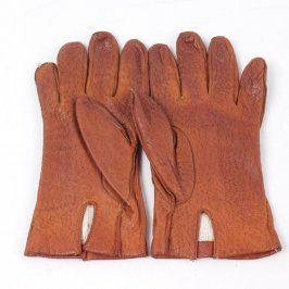 Dámské rukavice odstín oranžové
