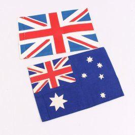 Vlajky Velké Británie a Nového Zélandu