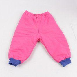 Dívčí tepláky růžovomodré barvy