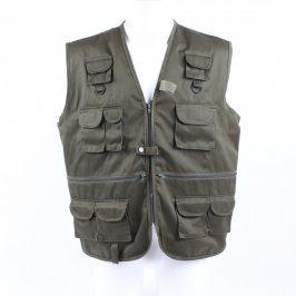 Pánská vesta Vest khaki s kapsami