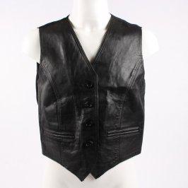 Pánská vesta kožená černá