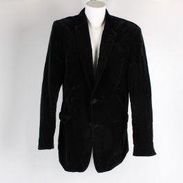 Pánské sako ZARA černé na knoflíky