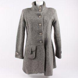 Dámský kabát podzimní odstín šedé